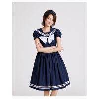 女童海军风连衣裙夏装儿童中大童洋气公主裙韩版春装童装宝宝裙子