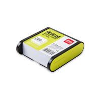 得力(deli) 7606 带盒便签纸/便条纸/便签本 91×87mm 绿/黑边框随机 当当自营