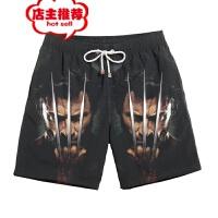 蝙蝠小丑休闲短裤男士3d印花运动裤五分裤情侣沙滩裤批发 ZC-DK-V25