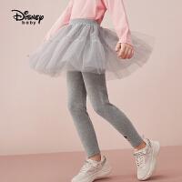 【2件4折券后价:70.5元】迪士尼女童网纱裙裤2021秋装新款儿童打底裤女薄款时尚裤子