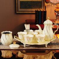 喝水杯子套装家用客厅简约现代6只装陶瓷欧式茶具茶壶茶杯水具