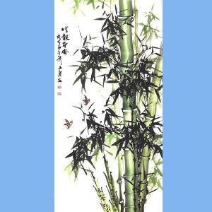 湖南人,擅长画花鸟尤其擅长画竹子,中国书画院理事吕山泉(竹报平安)1