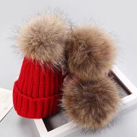 婴儿帽子秋冬季绒款儿童针织毛球毛线女孩帽子0-3个月6-12岁