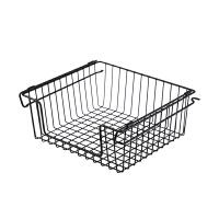 铁艺收纳篮家用零食收纳筐免钉客厅杂物储物架厨房浴室挂式置物篮
