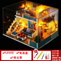 diy小屋别墅手工制作小房子模型拼装玩具创意生日礼物女