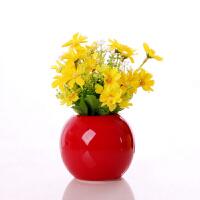 陶瓷迷你小花瓶 插花瓶仿真花艺套装简约现代家居家装饰品客厅酒柜小摆件