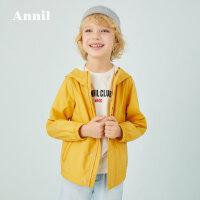 【活动价:169.5】安奈儿童装男童外套连帽春秋2020新款中大童旅行户外夹克防风防水