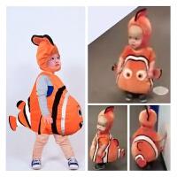 宝宝动物服装cosplay万圣节造型服halloween小丑鱼宝宝装儿童衣服 中国灵动小丑鱼
