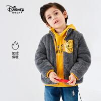 【3件2.8折预估价:58元】迪士尼童装男童舒棉绒立领外套2021秋冬新款时尚儿童上衣潮流保暖
