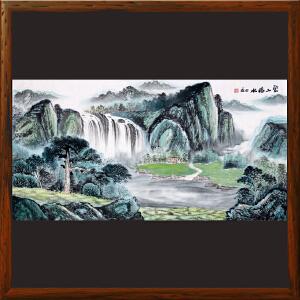 《宝山福水》R5266  许宏盛 全手绘国画