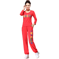 广场舞服装套装新款舞蹈服女春秋季运动套装休闲健身服棉有大码