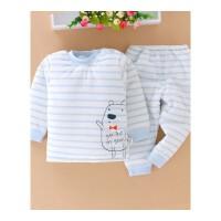 婴幼儿保暖内衣套装男女宝宝0-1-2岁衣服新生儿冬季夹棉加厚
