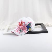 2018旅游运动遮阳帽立体子女士夏天秋天韩版潮鸭舌 白色 可调节