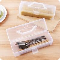 日式手提式带盖面条保鲜盒粉条收纳盒厨房用品食品筷子塑料储存盒 图片色