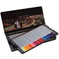 得力水溶性彩色铅笔 48色 72色绘画涂鸦涂色铁盒装花园填色彩铅
