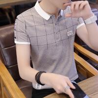劲2019短袖t恤 男潮流夏季男装修身衬衫领男士polo衫韩版半袖上衣服