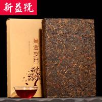 【新益号】黄金岁月 普洱茶熟茶 普洱茶砖 大板砖1000克 普洱砖茶