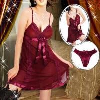 性感睡衣女夏季性感诱惑大码情趣内衣透明火辣蕾丝吊带睡裙胖sm 红色