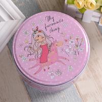 饼干盒 铁盒 圆形饼干盒曲奇盒子铁盒包装罐礼品物糖马口铁零食喜糖礼盒
