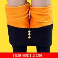 加绒加厚外穿打底裤子女弹力韩版小脚裤秋冬季保暖显瘦铅笔长裤子