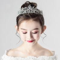 小孩生日花童走秀演出发饰儿童皇冠头饰公主女童王冠