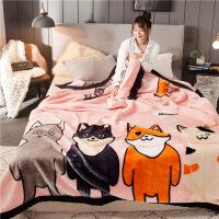 拉舍尔毛毯双层加厚冬季被子双人珊瑚绒毯子卡通单人学生宿舍盖毯