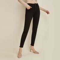 【再叠9折礼券】网易严选 黑科技保暖,女式暖焱绒高腰牛仔裤