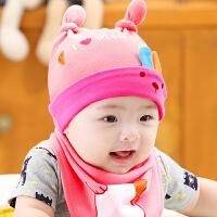 婴儿帽子0-3-6-12个月春秋男童胎帽男女宝宝帽套头帽秋冬
