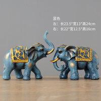 大象摆件风水象一对客厅玄关酒柜工艺品摆设小创意家居装饰品