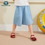 【618年中庆 2件3折价:48】迷你巴拉巴拉女童牛仔七分裤2020夏装新款儿童宝宝薄款舒适裤子
