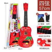 尤克里里初学者儿童仿真小吉他玩具可弹奏带音乐男孩女孩迷你乐器