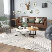 ins北欧地毯客厅茶几垫欧式简约现代摩洛哥风格地垫卧室床边地毯