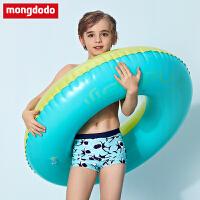 巴拉巴拉旗下梦多多宝宝游泳衣2019新款男童泳裤泳帽套装中大童速干泳装