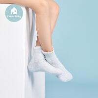 【用券满129立减30】3双装都市丽人儿童内衣都市贝比儿童组合短袜女童可爱花边袜子