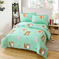 当当优品四件套 1.5-1.8床双人纯棉床单款床品 狐狸的故事
