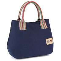 买菜包 便携 民族风妈妈小手拎包帆布百搭手提包中年女式包上班买菜包布艺小包