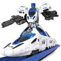 六一儿童节礼物和谐号变形玩具高铁金刚变形小火车套装电动带轨道赛车儿童男孩玩具 和谐号变形轨道 官方标配