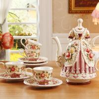 英式咖啡杯套装结婚礼品美式茶具咖啡具欧式下午茶花茶壶陶瓷杯具 5件