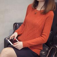 【品牌特卖日】【领�幌碌チ⒓�120元】2018秋冬新款韩版纯色套头针织衫修身显瘦毛衣外套