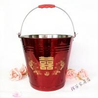不锈钢水桶 米桶 喜桶结婚水桶子孙水桶马桶 婚庆用品结婚用品