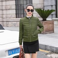 冬装棉衣女士短款修身韩版学生棒球服加厚小棉袄外套 2XL 132-145斤