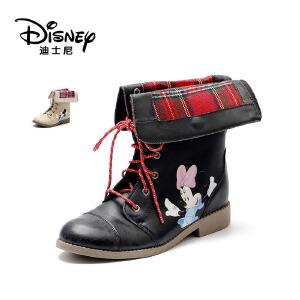 【达芙妮集团】迪士尼 冬女童细带中筒冬靴米妮童鞋