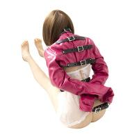 情趣皮革夫妻诱惑性玩具服反背捆绑带锁夜店表演服男女共用性用品 -