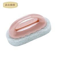 厨房强力去污带手柄海绵底清洁刷 浴室浴缸洗锅刷瓷砖擦海绵擦2个SN4941