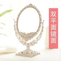 精品优惠镜子台式公主欧式复古欧式台式桌面公主美容化妆镜复古双面宿舍小镜子女随身梳妆镜便携 特