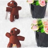 憨豆先生泰迪熊 可爱憨豆先生挂饰 泰迪熊钥匙扣包包挂件毛绒公仔布偶娃娃 高约10厘米 其它大小