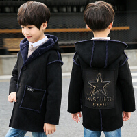 儿童外套秋冬厚款2018新款韩版呢子大衣男孩加绒加厚