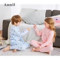 【直降:269】安奈儿童装男女童2019冬季新款加厚保暖衣家居服睡衣两件套
