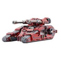 3D立体金属拼图玩具diy模型拼装星际坦克手工生日礼物创意定制 猩红骑士 均码
