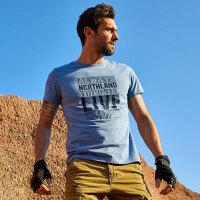 【过年不打烊】诺诗兰新款男士休闲舒适有型短袖T恤GL085B29